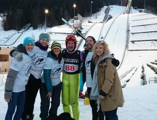 Eddie the Eagle – Le Praz charity ski jump and upcoming movie