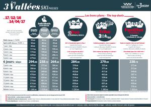 Three Valley lift pass prices 2016 2017